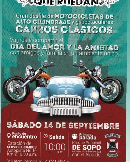 Encuentro internacional de vehículos de colección, en la Calera, Cundinamarca