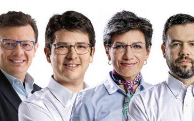 Galán y López siguen punteando la intensión de voto en Bogotá