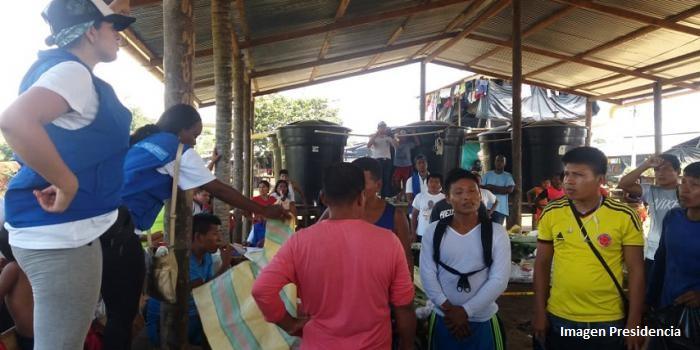 Más de mil indígenas comenzaron retorno en Juradó (Chocó)