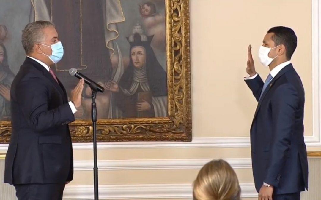 Juan Pablo Diaz Granados es el nuevo Viceministro del Interior: Daniel Palacios Martínez