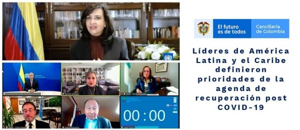 Líderes de América Latina y el Caribe definieron prioridades de la agenda de recuperación post COVID-19