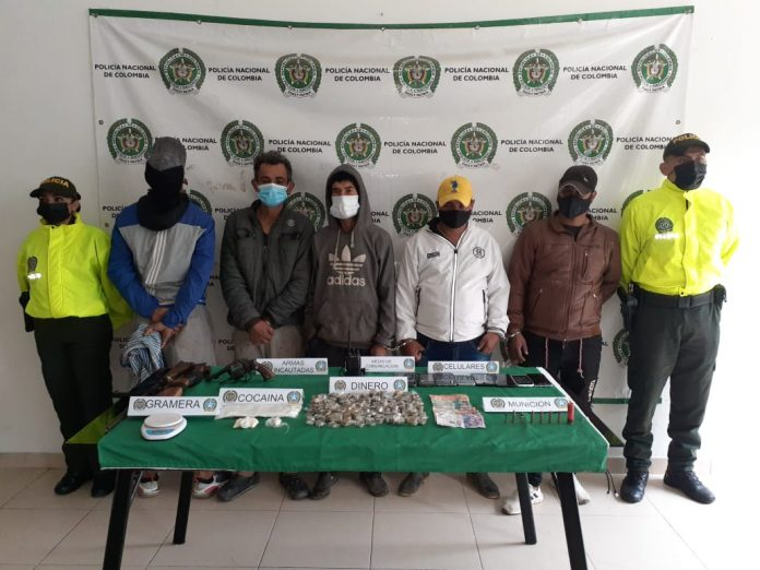 A la cárcel cuatro presuntos responsables de tráfico de estupefacientes y porte ilegal de armas