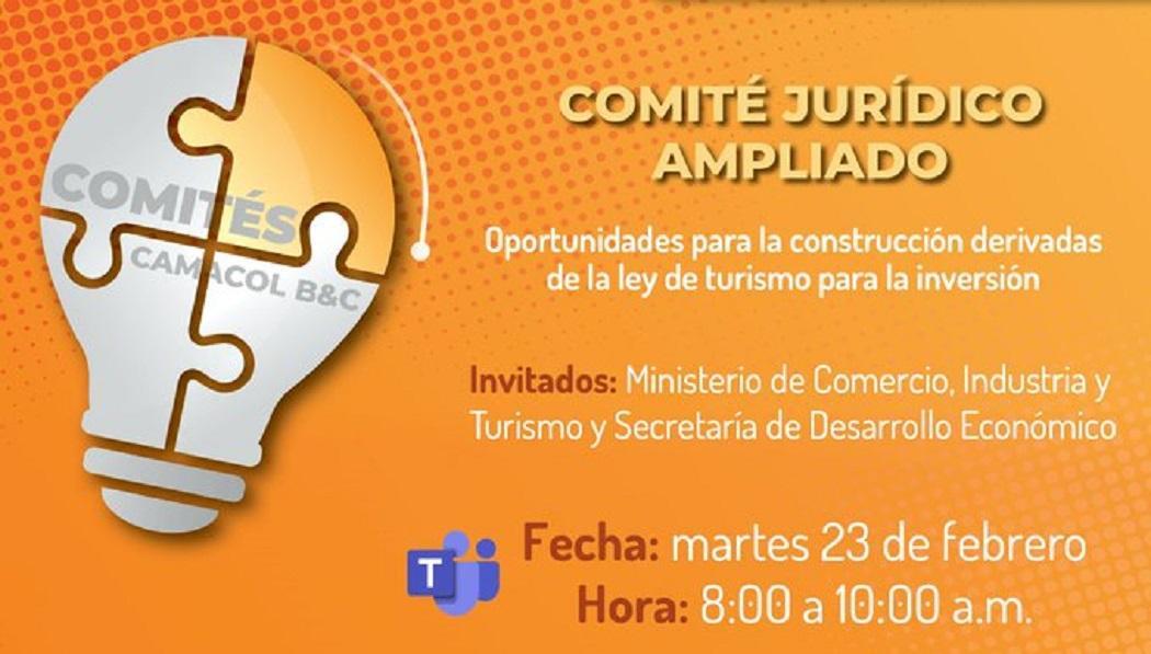 Participa en el Comité Jurídico Ampliado organizado por el IDT y Camacol