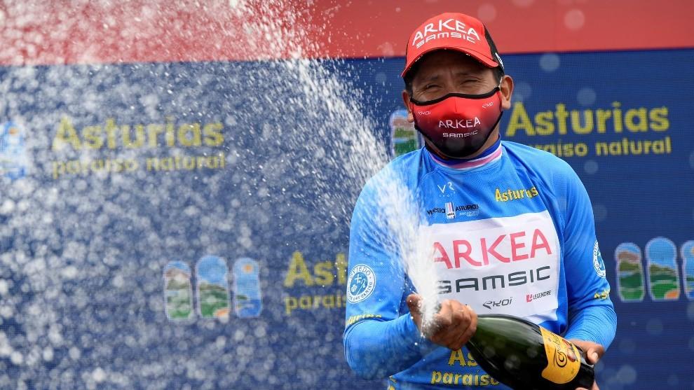 Nairo Quintana se corono como ganador en la Vuelta a Asturias