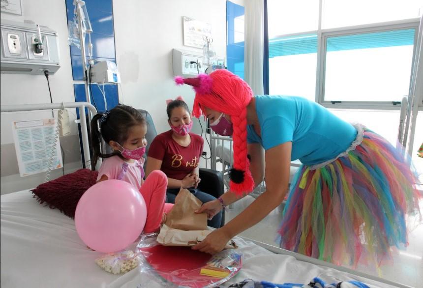 Con jornadas de recreación, la Administración Municipal lleva alegría a niños del Hospital Concejo de Medellín, para atenuar el impacto de la covid 19 en su recuperación