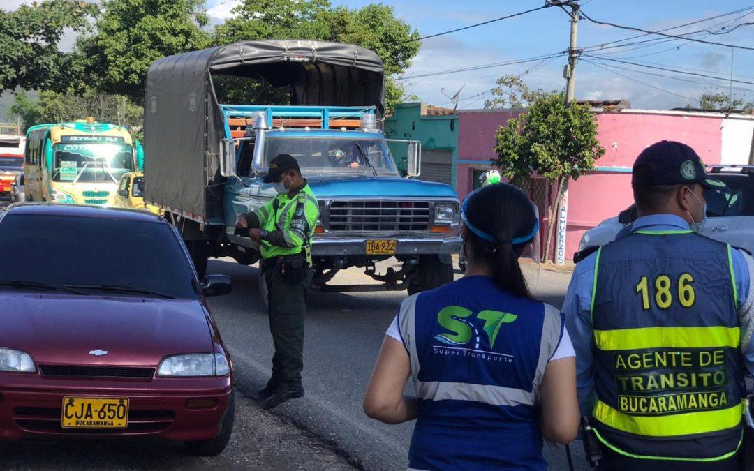 Sancionada la dirección de tránsito de Bucaramanga por Supertransportes