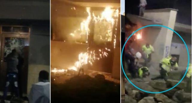 Caos y zozobra en Bogotá, Cali y Medellín, en la capital, al menos 15 CAI fueron vandalizados