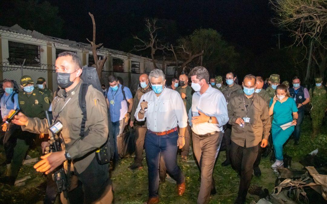 Ministro de Defensa rechaza tajantemente atentado con carro bomba en la brigada del ejército